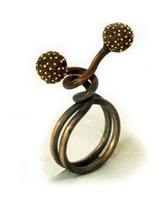 Ring | Arata Fuchi. Oxidized silver, Oxidized silver powder, Fine gold