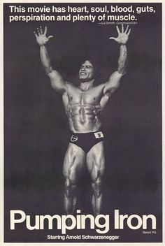 """Pumping Iron,"" classic #bodybuilding movie from 1977 irons, pumping, pump iron, bodybuilding, crossfit, posters"