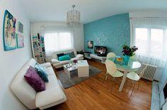 Dragana's apartment in Belgrade#deco#design#turquese#home#apartment