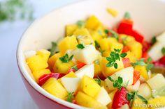 Tropical Fruit Salsa, tastes good on everything! #tropicalfruitsalsa