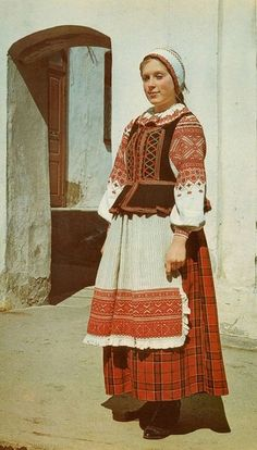 A Belarusian folk costume