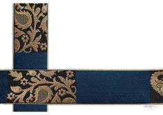 50 mm Indian Saree Borders - Jacquard lace # 002980  Royal flower design Jacquard saree border for elegant Indian Saree Design.   This design is made by use of modern color i.e Dark Blue, Gold. Such saree border designs were used in traditional outfits by Shyamal bhumika creation.  Visit www.lacxo.com more then 250 variety of laces, tapes, trims, ribbons, webbing and such fashion accessories. You can even mail us at info@lacxo.com for your custom saree border requirement.
