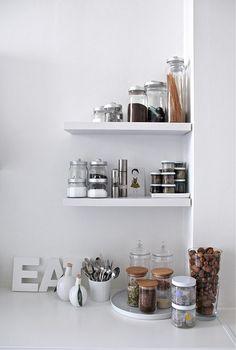 Little short shelves.