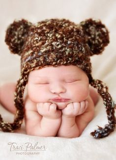 Is it wrong to make your baby look like a bear? I think not...