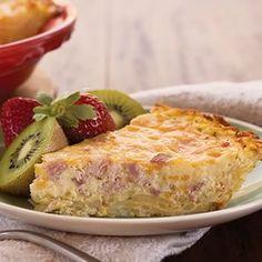 Recipe For Potato-Crusted Ham Quiche