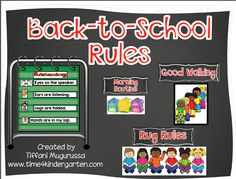 Create beginning of the year anchor charts for procedures and rules.