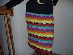 colorful crochet skirt pattern
