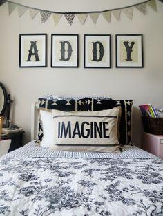 Pink and Black Vintage Big Girl's Room