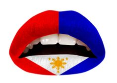 The Filipino Flag Lip Appliques...Interesting haha