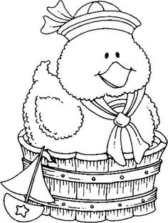 NINE cute duckie images to color on this post!