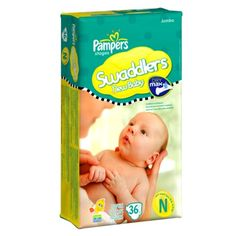 Pampers Swaddlers Sensitive Baby Diapers - Jumbo Pack -  Newborn (36 Count)