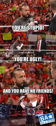 This is true. WWE is the worst company to promote a stop to bullying. Maybe because they beat each other as a job.