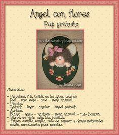 Anjo com flores #biscuit #diy #tutorial
