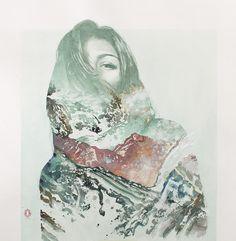 watercolor art, mountain, watercolor paintings, art paintings, oriol angril, angril jordà, wave, artist, artwork