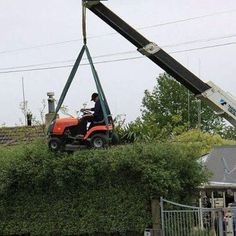 WHAT A WAY TO CUT YOUR GRASS