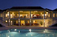 Haystack eight-bedroom #villa at dusk. #Jamaica