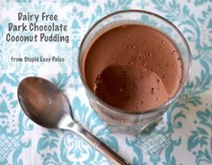 Dairy Free Dark Chocolate Coconut Pudding #StupidEasyPaleo
