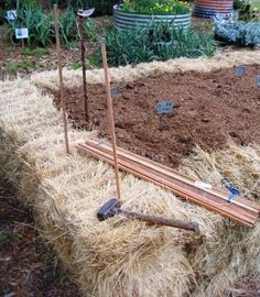 straw bale raised garden beds