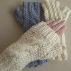 January mitts, new knitting pattern for fingerless mitts