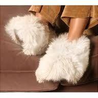 Fuzzy slippers.