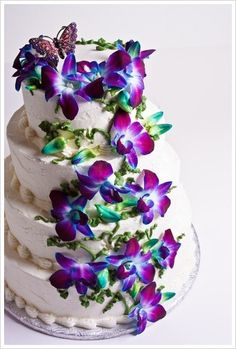orchids on the cake