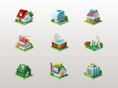 Real estate icons by MadOyster
