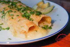 comfortable food - simple sour cream chicken enchiladas