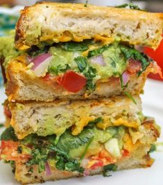 Guacamole Grilled Cheese Sandwich! Oh my!