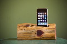 iPhone/iPod docking station by woodtec on Etsy