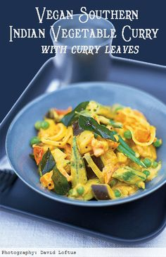 #MeatlessMonday with Vegan Southern Indian Vegetable Curry with Curry Leaves