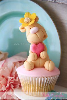 cute teddy bear cupcake