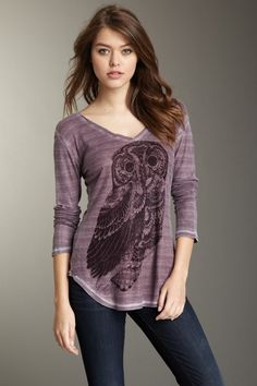 {Lonely Owl Thermal Top} Go Couture