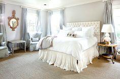 beautiful bedroom. love the gray walls