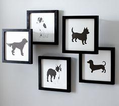 dog silhouette DIY