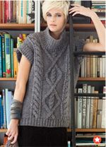 Really want to make one of these, but I don't know if I'm a good enough knitter. sweater, vogu knit, craft, vogue knitting patterns, crochet, sleev tunic, cap sleev, sleeves, mari lynn