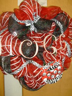 Razorback wreath!!! Love, love, love!!