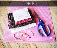 DIY Braided Fabric Headband Supplies