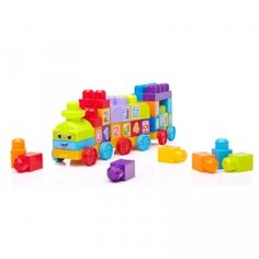 The First Builders 1-2-3 Learning Train is a 50-piece preschool construction set that lets kids build their own train and then play with it as a push toy.