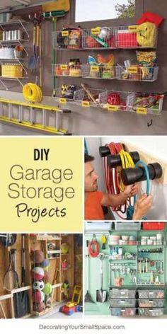 Garage Organization. I like the black tubing for hoses.