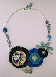 Blue yo yo necklace