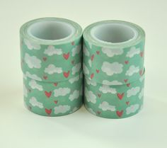 Heart And Cloud Wide Washi Tape by Freckled Fawn - Two Peas in a Bucket