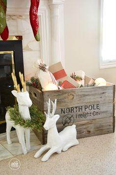 Such a cute idea - Christmas Crate