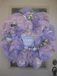 Easter mesh wreath tutorial