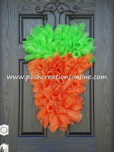 carrot mesh, easter carrot, colors, easter wreaths, carrots, wreaths easter, decorations, wreath easter, deco mesh wreaths
