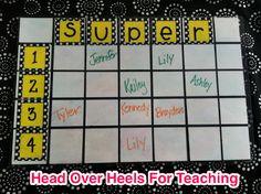 Spark Student Motivation Saturday: Super  Prize Board