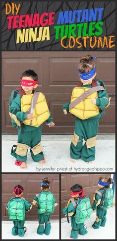 DIY Teenage Mutant Ninja Turtles Costumes from Sweat Pants