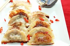 Creole Pot Stickers with Andouille and Chicken.