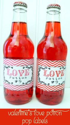 Love Potion #9 Drink Labels. Free download on { lilluna.com } #valentines