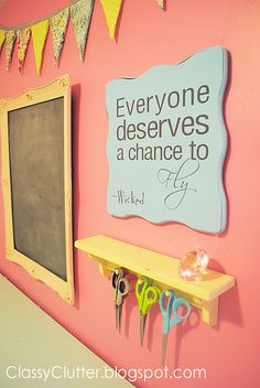For ME  Colorful craft room