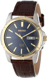 Save $88.51 - Seiko SNE102 Stainless Steel Leather  Like, Repin, Share it  #todaydeals #ChristmasDeals #deals  #discounts #sale #Watches